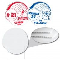 Volleyball Shaped Corrugated Plastic Sign Corrugated Plastic Signs Are The Solution To Your Inexpensive Corrugated Plastic Campaign Signs School Spirit Items
