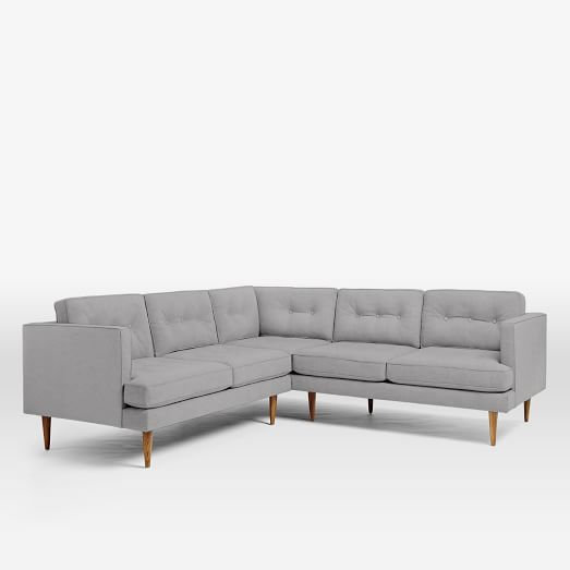 Peggy Mid Century L Shaped Sectional Modern Sofa Sectional Mid