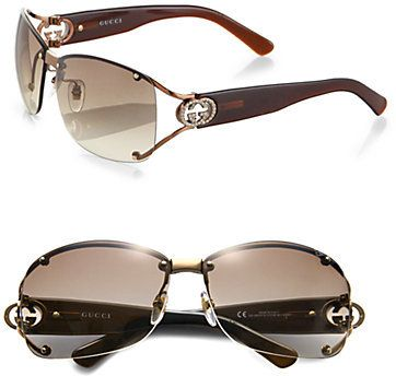 5578c91bc8852 Gucci Open Temple Oval Sunglasses on shopstyle.com