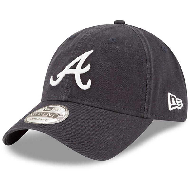 2470c783723 Atlanta Braves New Era Road Replica Core Classic 9TWENTY Adjustable Hat -  Navy