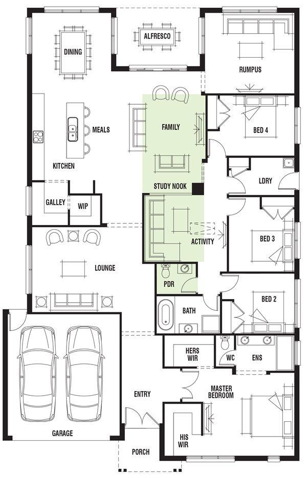Porter davis homes house design vancouver also  floor plan rh pinterest