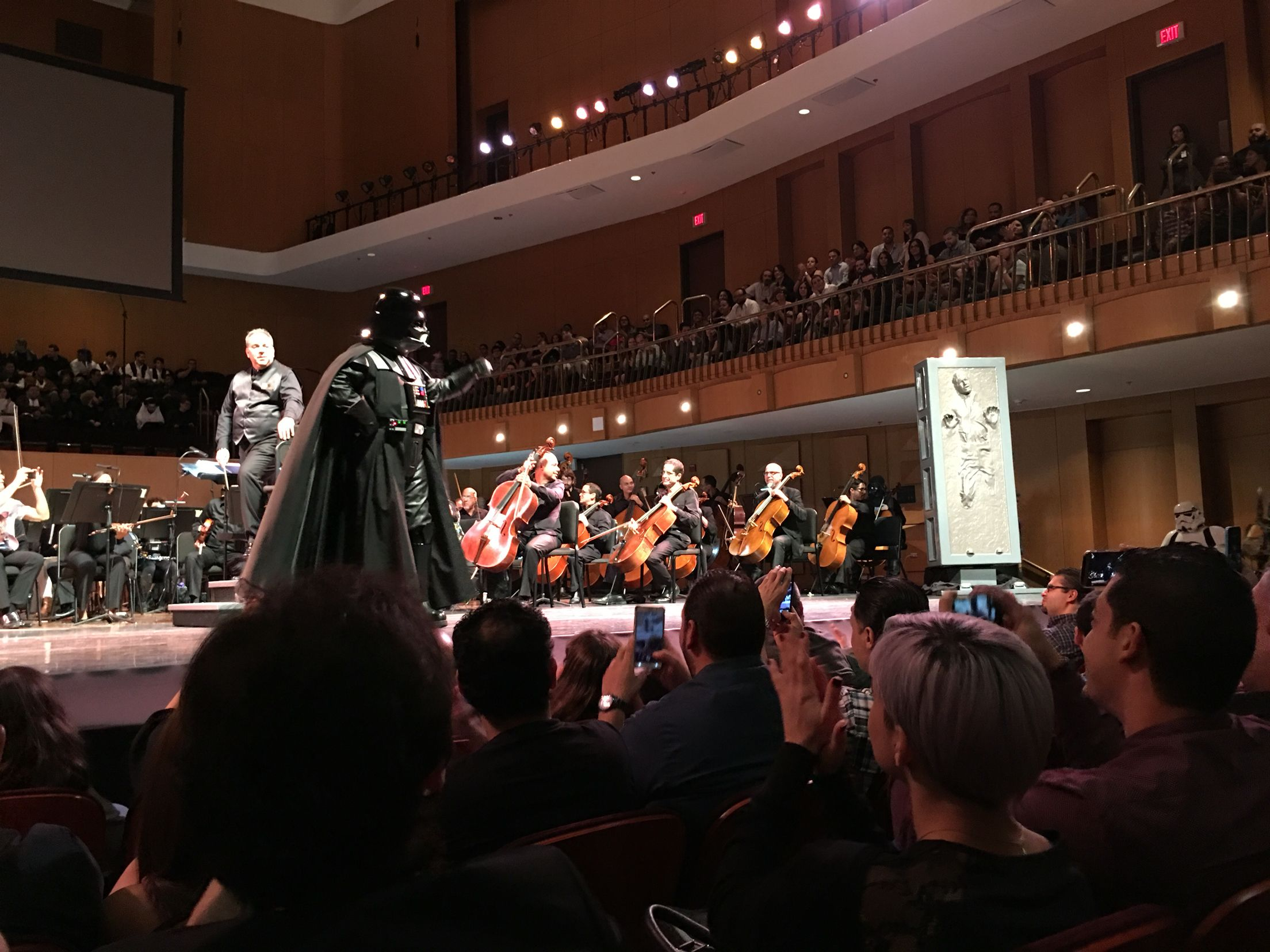 Concierto de #StarWars el 20 de noviembre de 2015 de La Orquesta Sinfónica de Puerto Rico Centro de Bellas Artes Santurce, The Imperial March Suite. #DarthVader