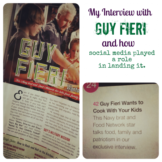 My Guy Fieri interview and how social media played a role in getting it