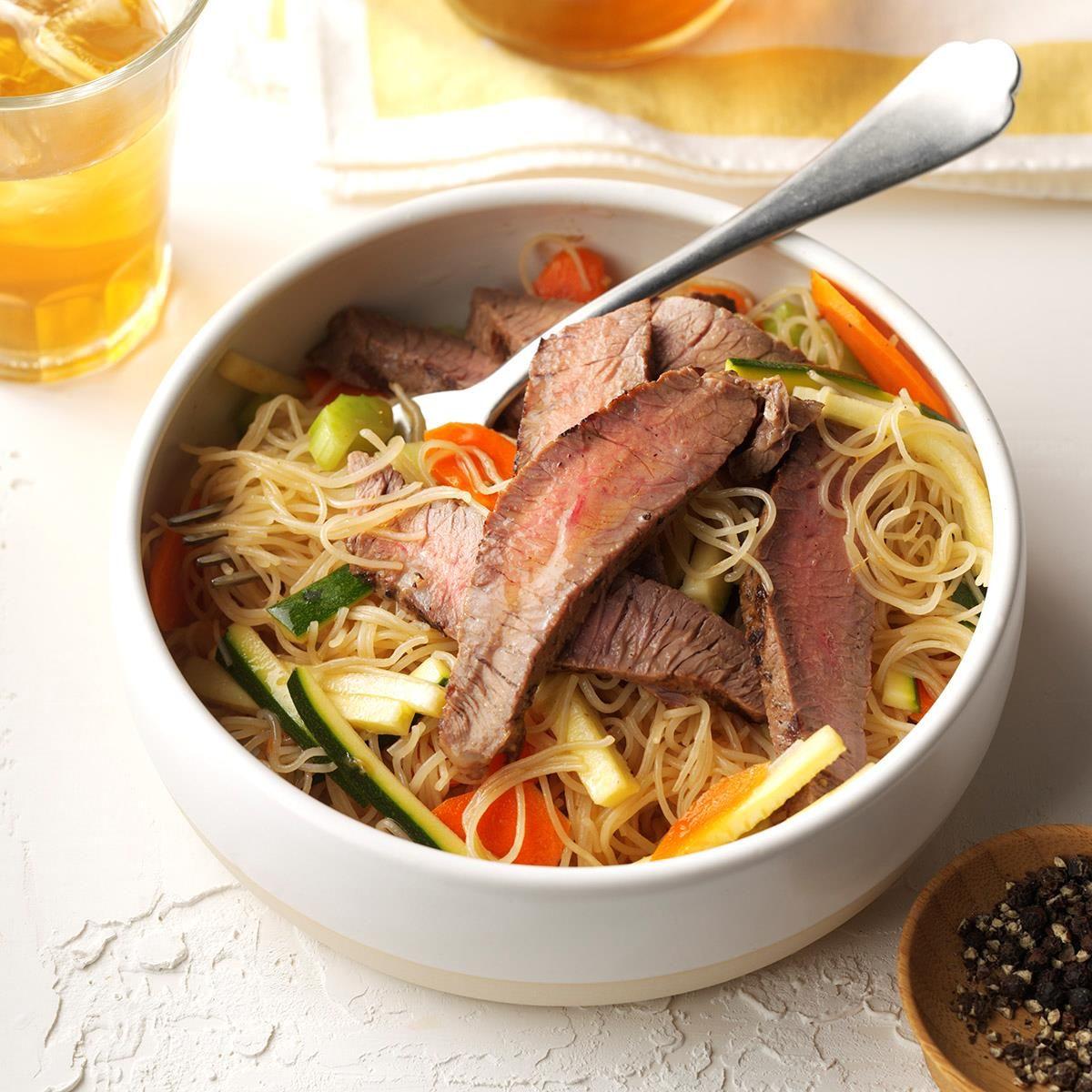 Asian Noodle & Beef Salad | Recipe | Beef salad, Asian ...