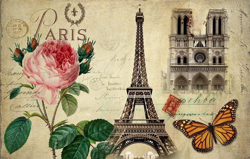открытки парижа старые вяжем кругу