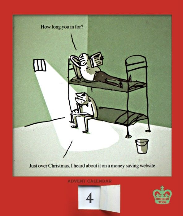 the modern toss advent calendar christmas humor. Black Bedroom Furniture Sets. Home Design Ideas