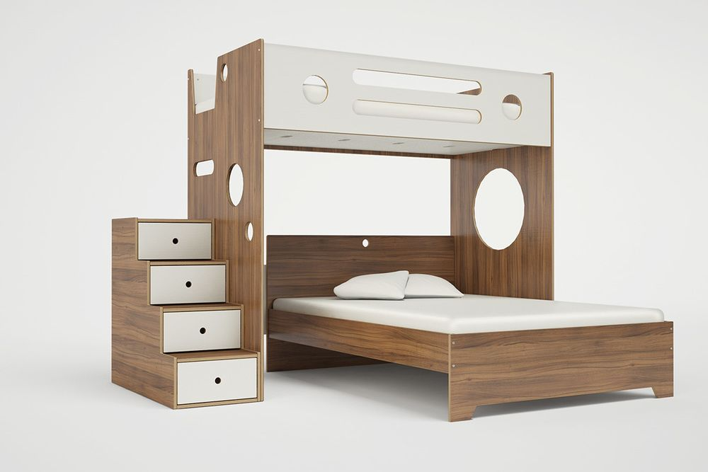 Marino l-shaped bunk bed over full