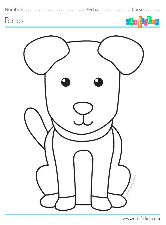Dibujos De Perros Para Colorear Descargar Pdf Gratis Dibujos De Perros Como Dibujar Un Perro Animales Para Imprimir