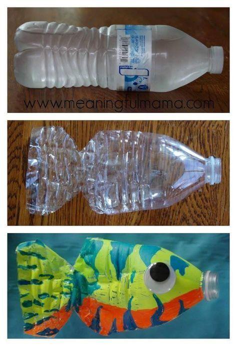 Water Bottle Fish Craft Water Bottle Crafts Crafts