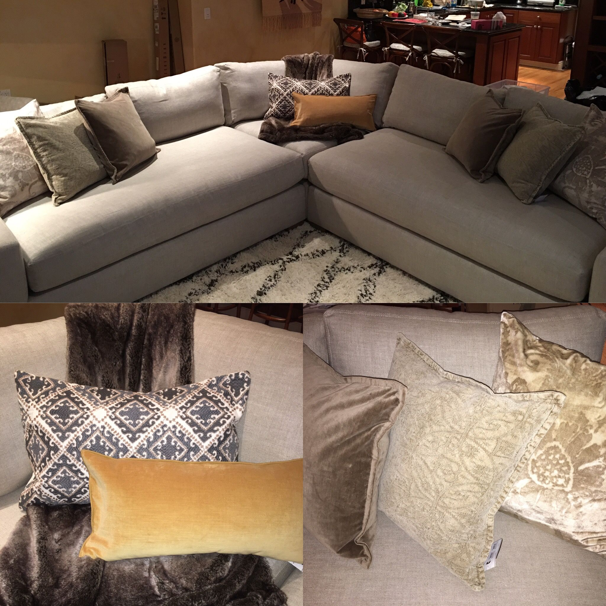 This Sofa Is All Dressed Up With Pillows From @Potterybarn