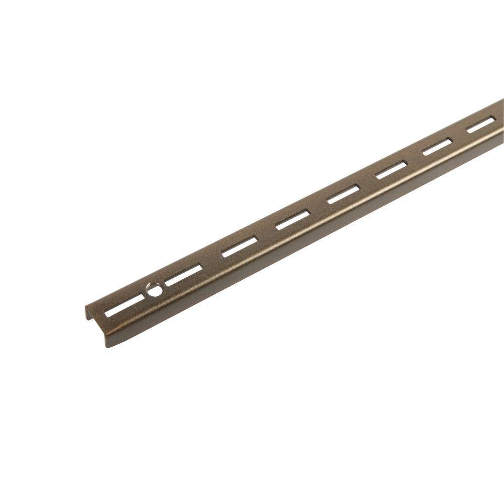 Everbilt 48 In Bronze Single Track Wall Standard Eb 0095 48brz Bronze Home Depot Cinder Block Walls