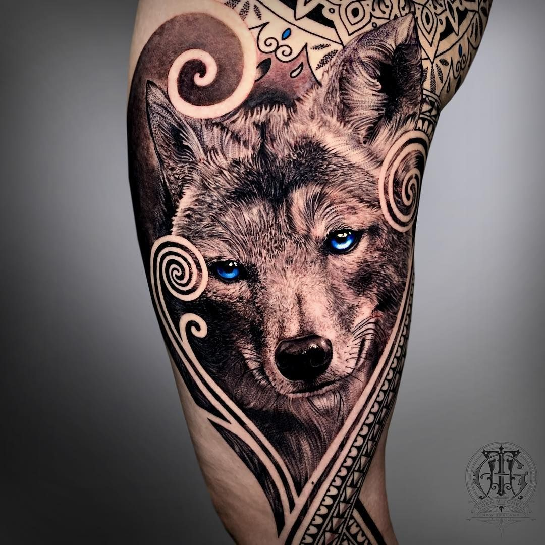 Coyote Realism Tattoo By Coen Mitchell Animal Tattoos Grey Wolf Tattoo Realism Tattoo