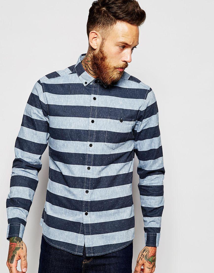 Immagine 1 di ASOS - Camicia a righe larghe