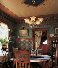 victorian dining room wallpaper - Google Search | Dinning ...
