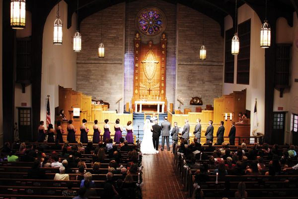 Ceremony First Reception: Wedding Ceremony At First United Methodist Church Of