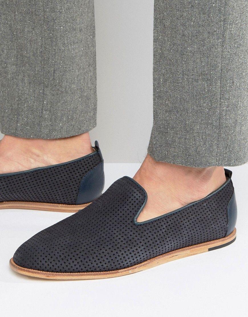 HUDSON LONDON VISTA SUEDE LOAFERS - NAVY. #hudsonlondon #shoes #