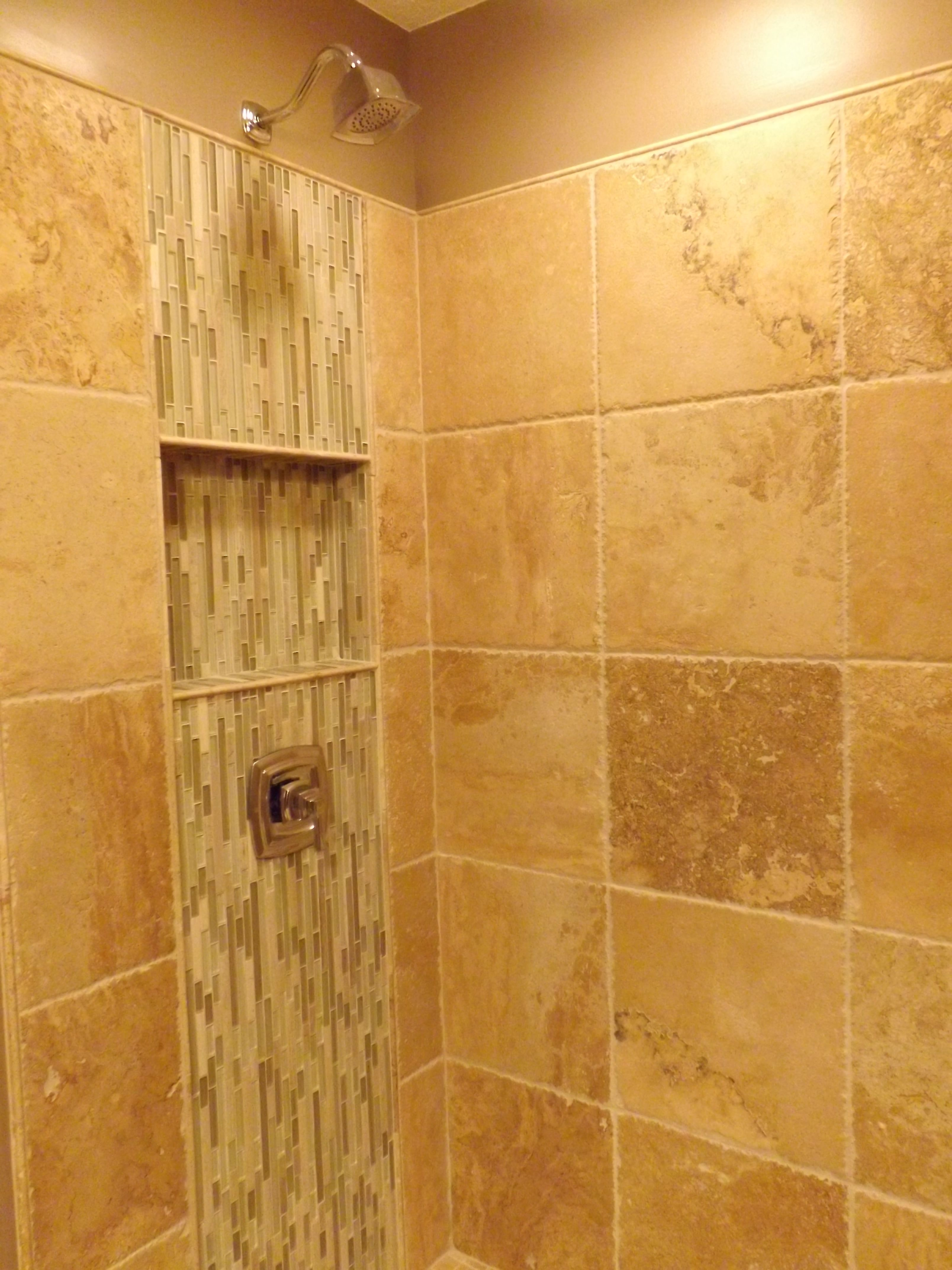 Simply Beautiful Bathrooms: Travertine Shower Will Waterfall Glass And Stone By Simply
