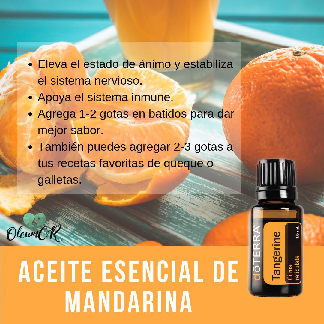 Beneficios del aceite esencial de mandarina en el organismo