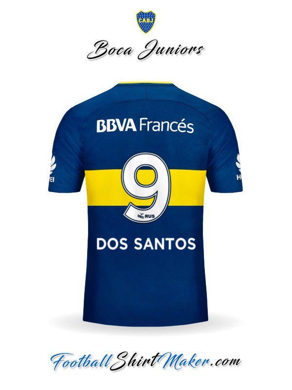 Camiseta Boca Juniors 2017 2018 Dos santos 9  8254c02fced25