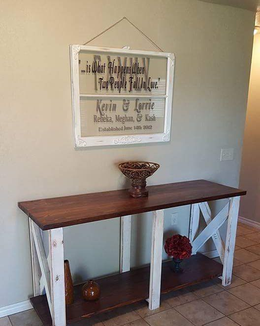 Nailed it!  Love getting to see my work in its hime!!! #nailedit #buylocaloklahoma #supportlocalbusinesses #done #ibuiltthis #upcyclinglife #pallets #palletfurniture #upcyclinglife #countryhome #farmhousestyle #woodworking #oklahomamade #madeinoklahoma #rusticfurniture #handmade #buildlikeagirl🔨
