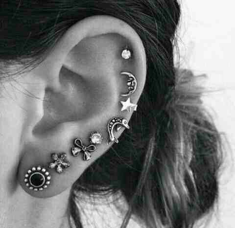 Cute Earrings That Go All The Way Up Ear
