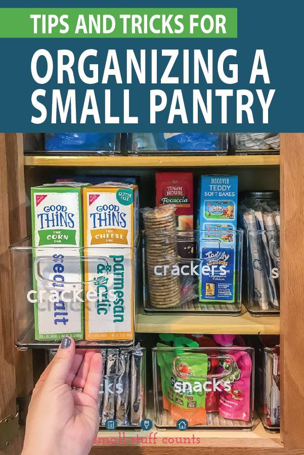 Organizing A Small Pantry With The KonMari Method + Free Checklist #organizekitchen