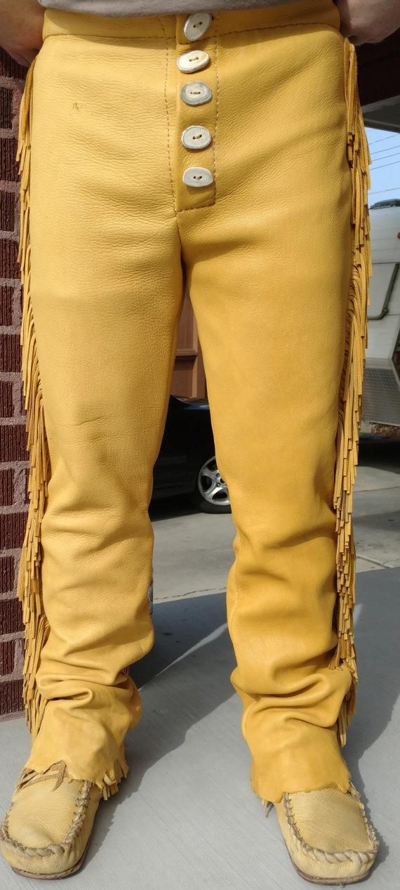 Best Men's Buckskin Pants Made From Elk Hide Custom Order 400 x 300