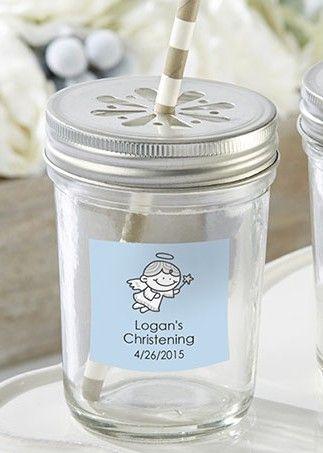 Cute Mini Mason Jar Baptism Party Favors Fill With Candy Mini Mason Jars Mason Jars Glass Mason Jars