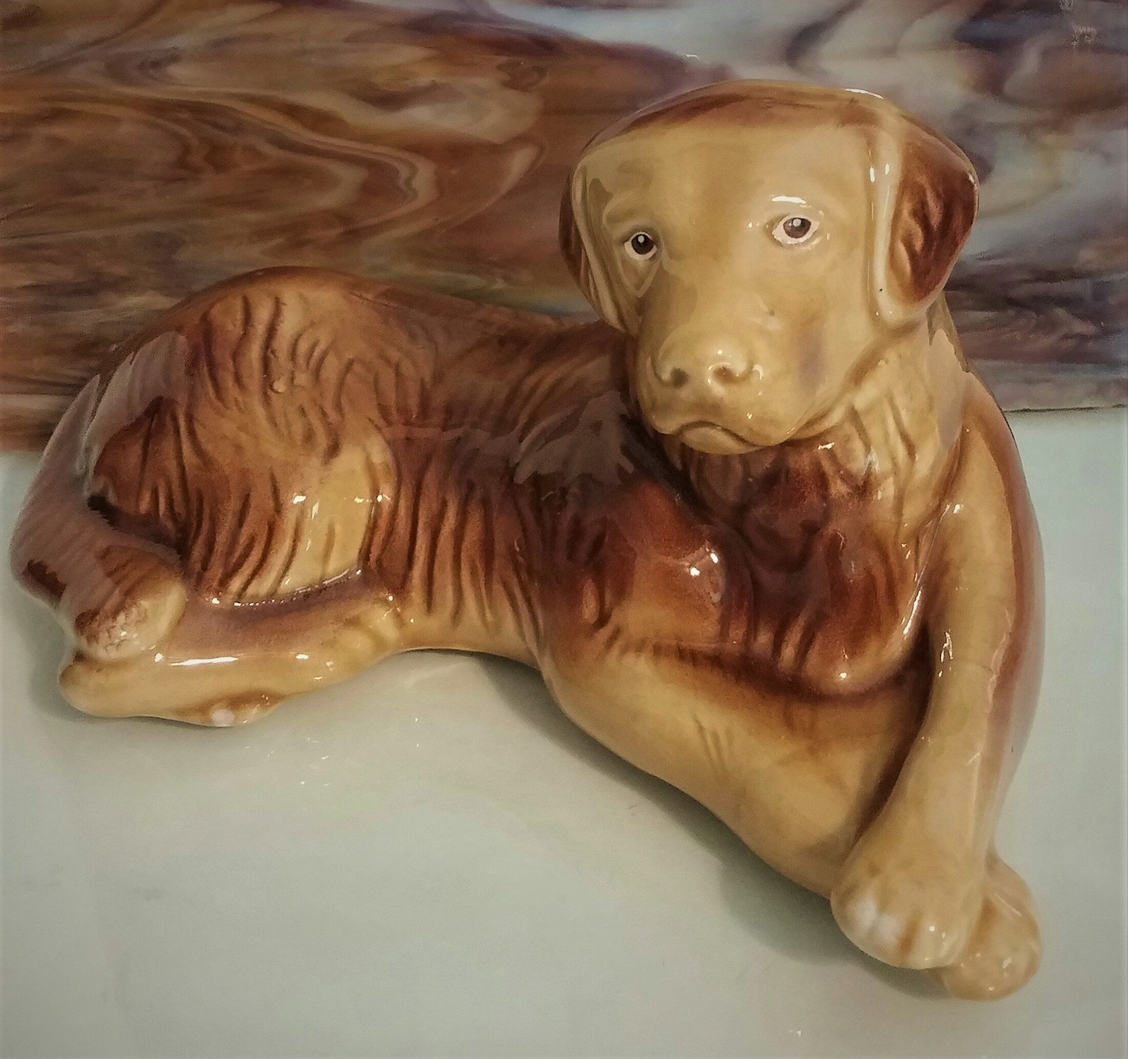 Golden Retriever Labrador Ceramic Dog Made In Brazil Artist