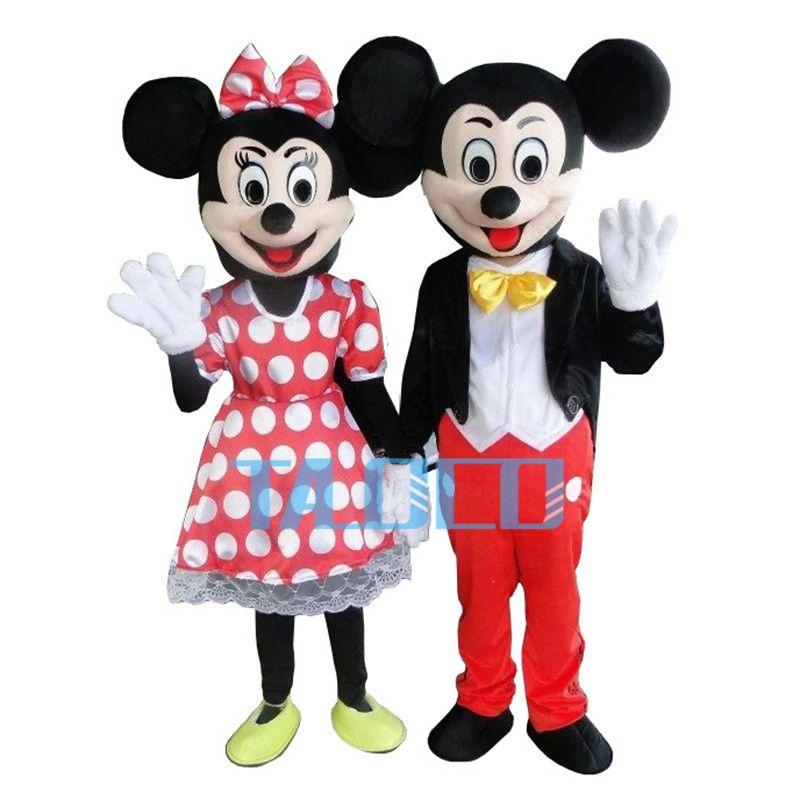New Dewasa Untuk Pasangan Mickey Dan Minnie Mouse Kostum Maskot Fancy Dress Partai