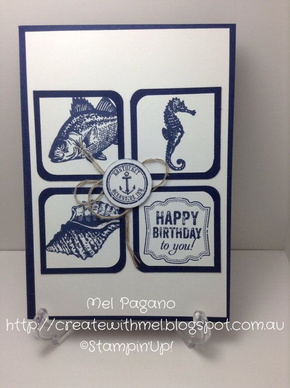 Handmade Male Birthday Card Stampin Up by CreatewithMel on Etsy