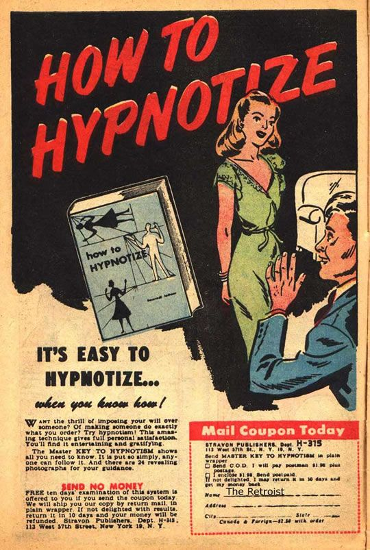 001 Vintage Hypnosis Ad How to Hypnotize It's Easy to