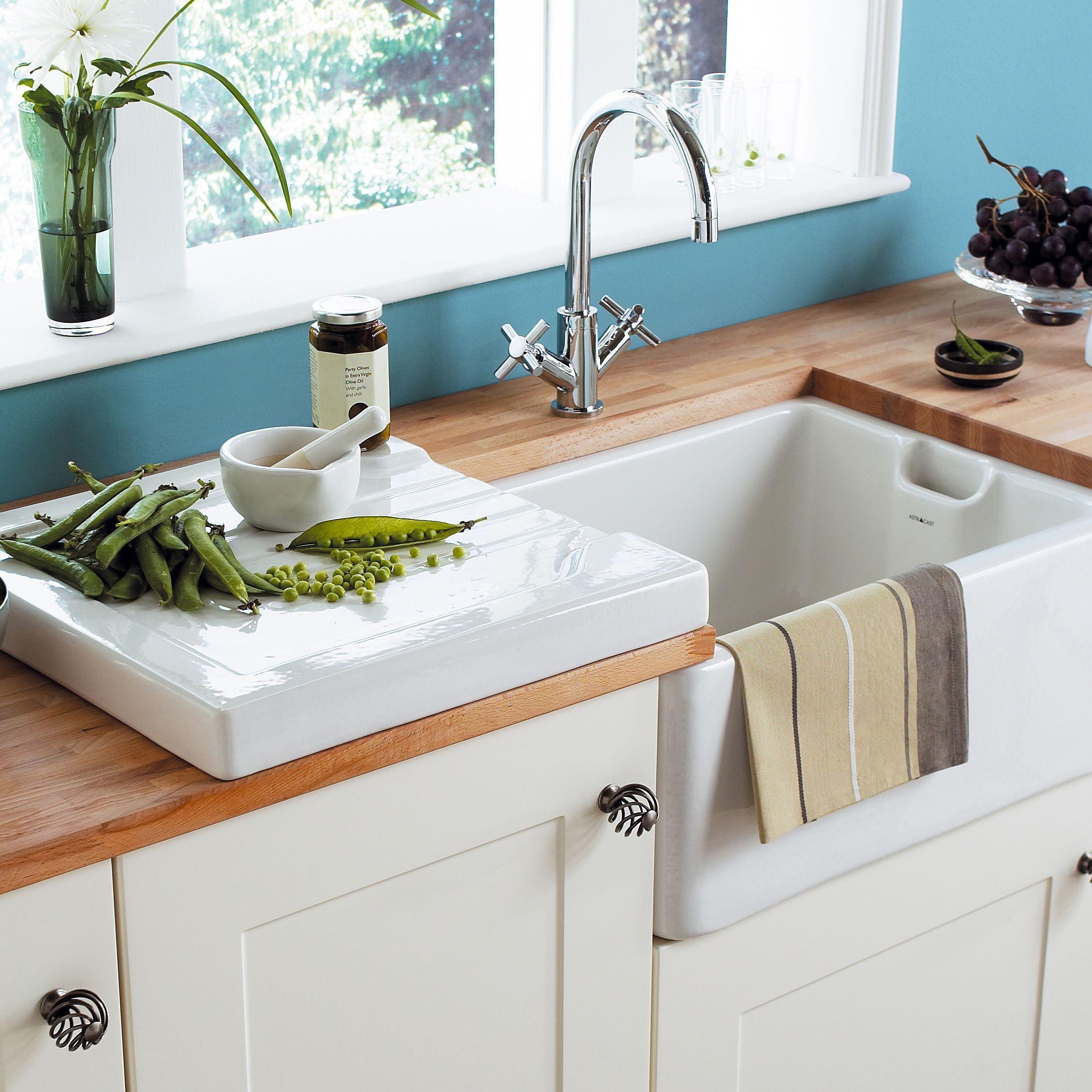 Cooke Lewis Chadwick White Ceramic 1 Bowl Sink In 2020 Belfast Sink Butler Sink White Ceramics