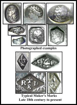 French Silver Plate Hallmarks Are Usually Contained In A