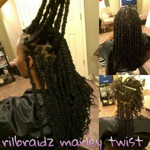 Marley Twist Over Starter Locs Locs Hidden By Rilbraidz