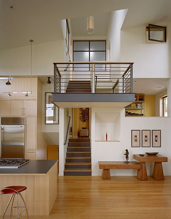 Modern Remodel Of The Post War Split Level House Into A Five Level