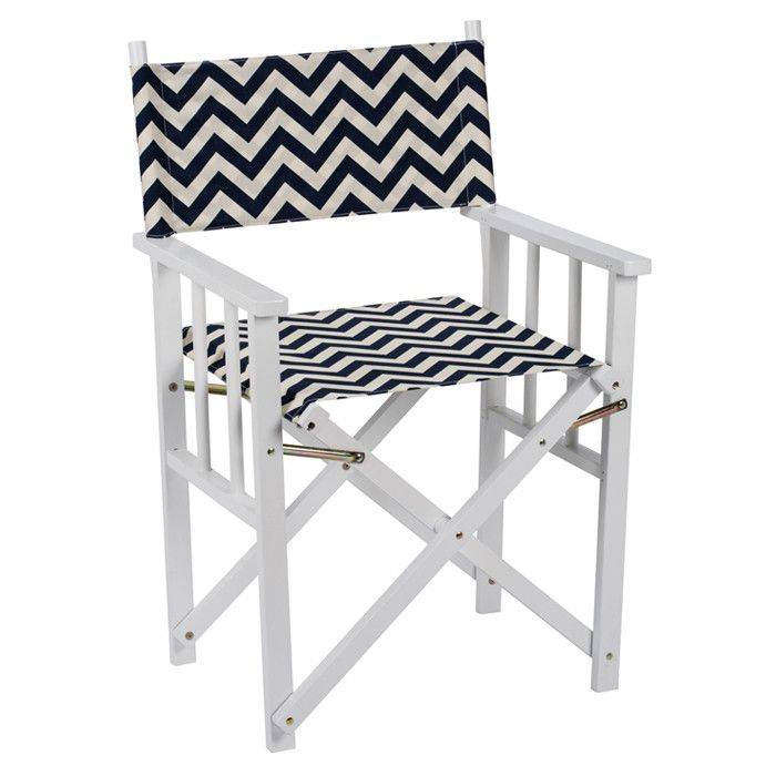 Missoni Home Outdoor Folding Chair Regista: Chevron Director's Chair