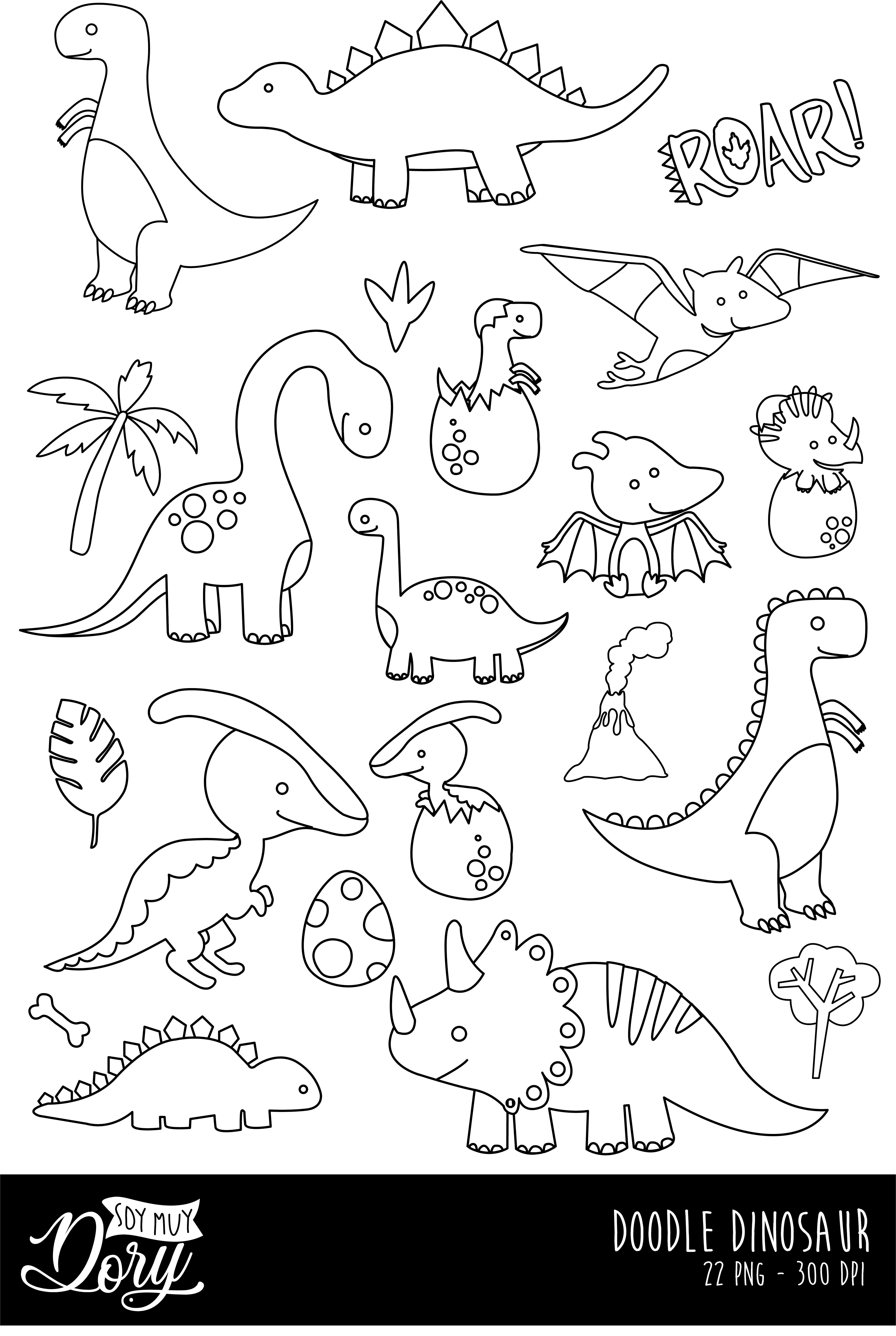 Cod28 Doodle Clipart Dinosaur Clipart Jurassic Park Clipart Dinosaur Printable Scrapbook Cliparts Instant Download Commercial Use In 2021 Free Motion Quilt Designs Clip Art Dinosaur Themed Birthday Party