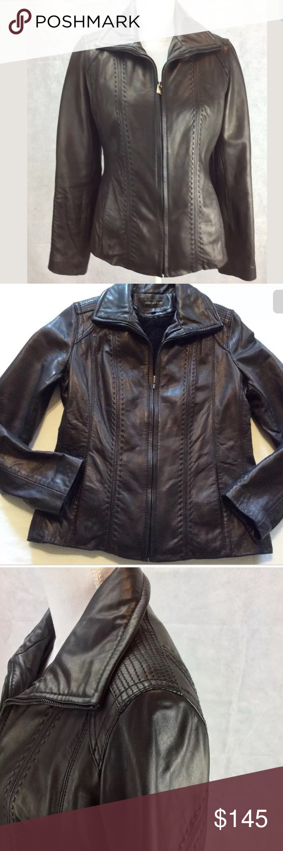 Jones New York Women S Leather Motorcycle Jacket Jones New York Women S Leather Jacket Size M Leather Motorcycle Jacket Women Leather Motorcycle Jacket Jackets [ 1740 x 580 Pixel ]