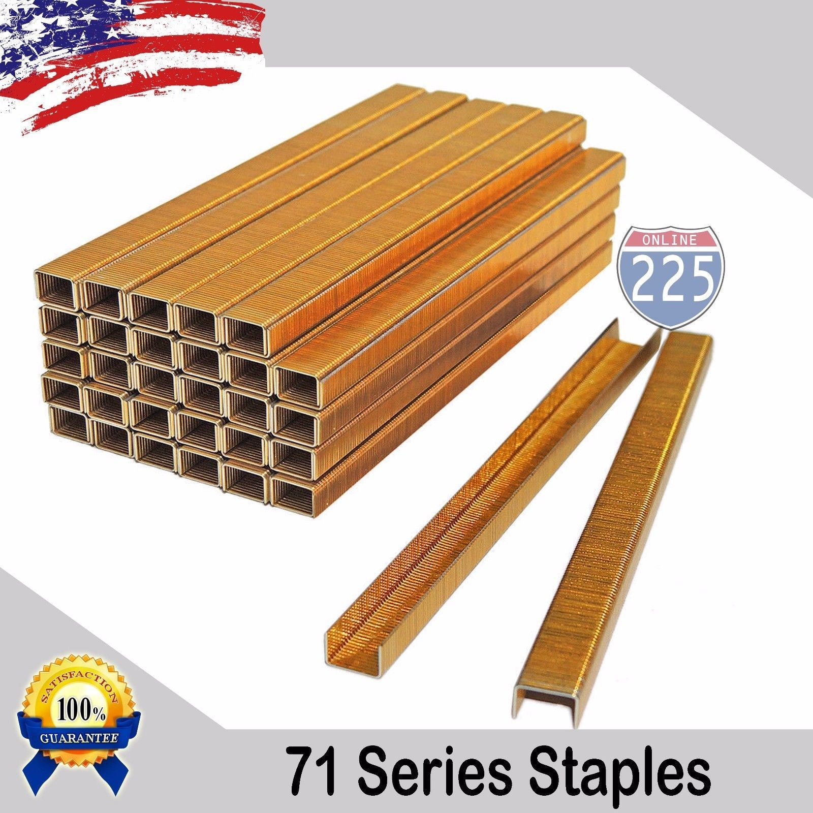 Galvanized Upholstery Staples 71 Series 22 Gauge 3 8 Crown 1 8 5 8 Length Free Expedited Shipping Galvanized Staples Industrial Staples