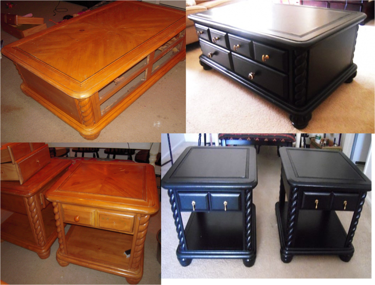 remake of one ugly coffee table set | coffee