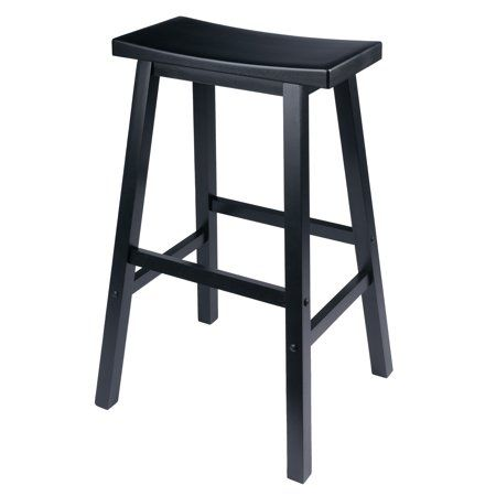 Winsome Wood Satori Saddle Seat Bar Stool 29 Inch Black Size 29 Inch In 2020 Saddle Seat Bar Stool Winsome Wood Bar Stools