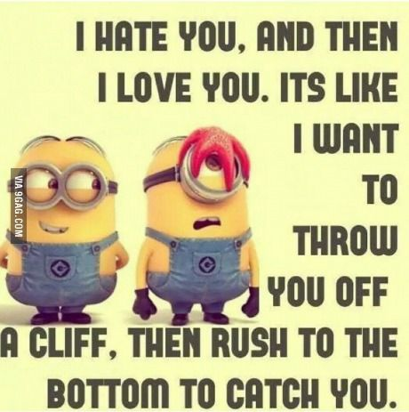 Basically The Feelings I Have For My Girlfriend Minions Funny Best Friend Quotes Friends Quotes Funny