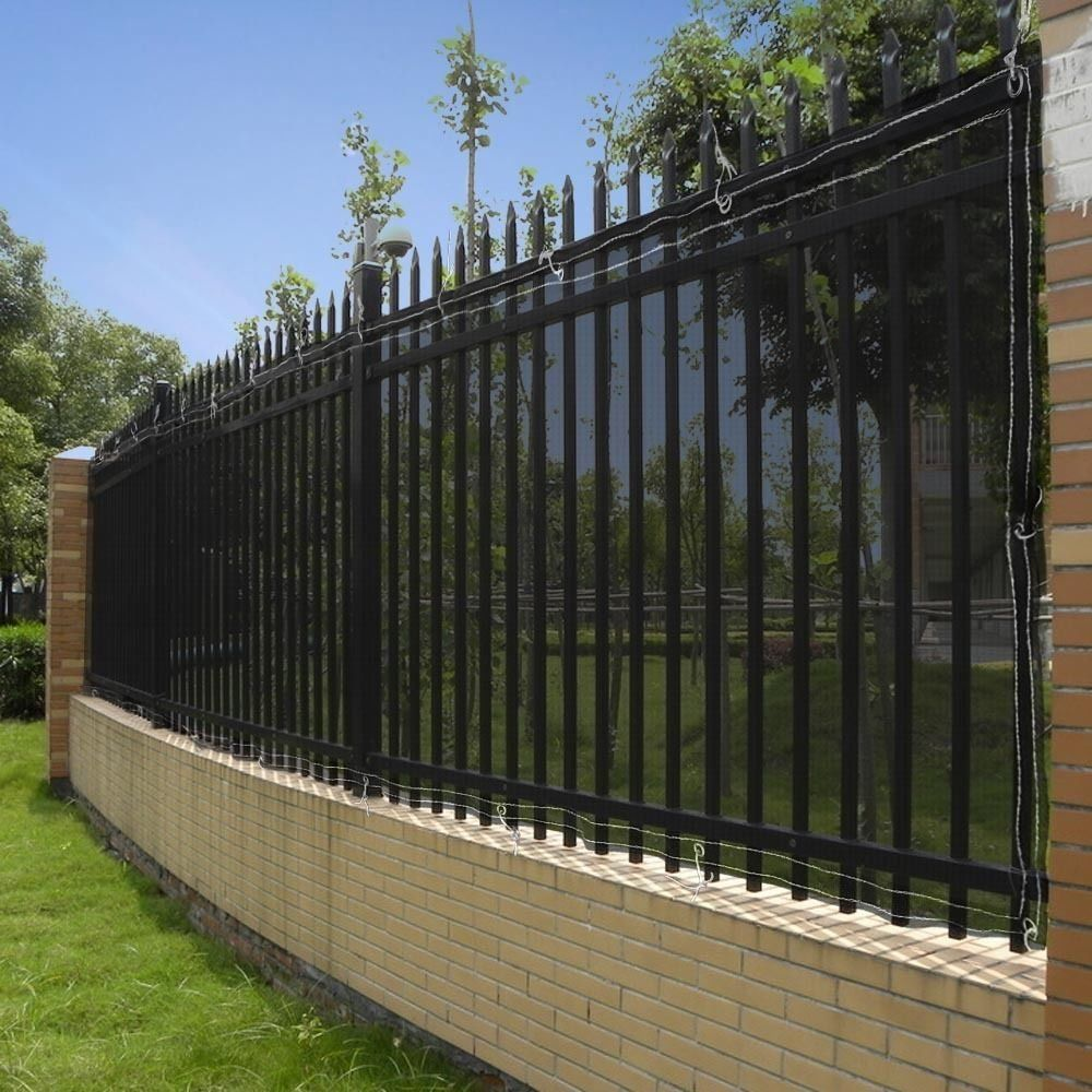 Amazon Com Privacy Fence Screen 4 Tall X 50 Mesh Windscreen Fabric Slat Outdoor Backyard Privacy Screen Outdoor Aluminum Fence Privacy Privacy Fence Designs