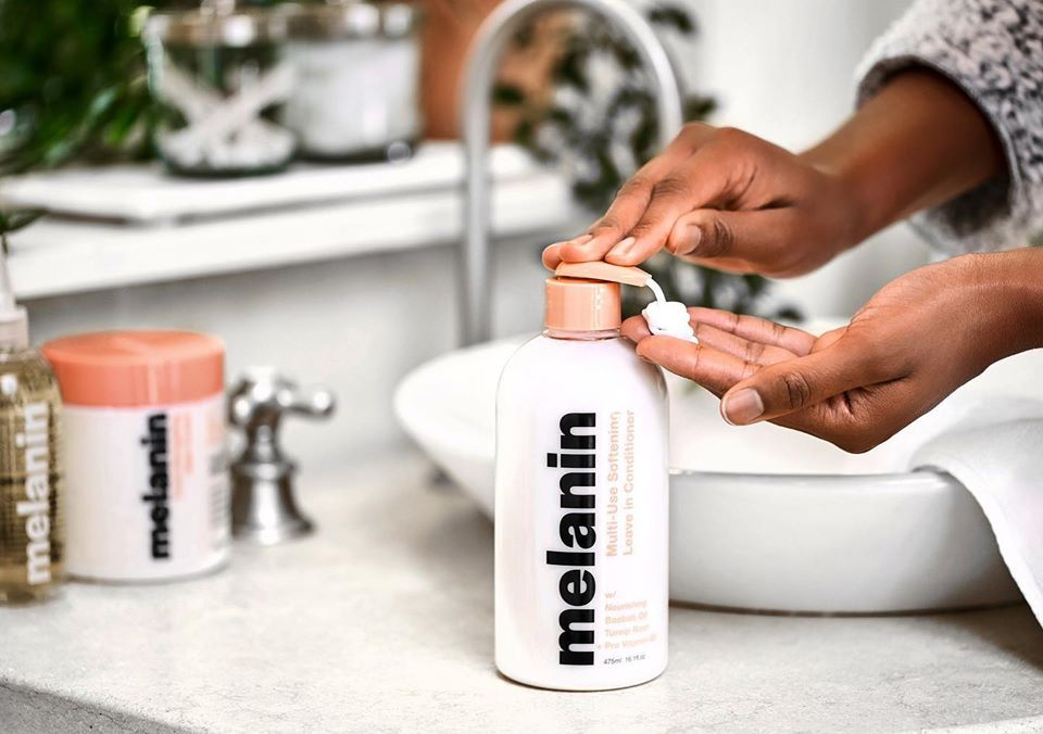Use The New Melanin Haircare Multi Use Softening Leave In