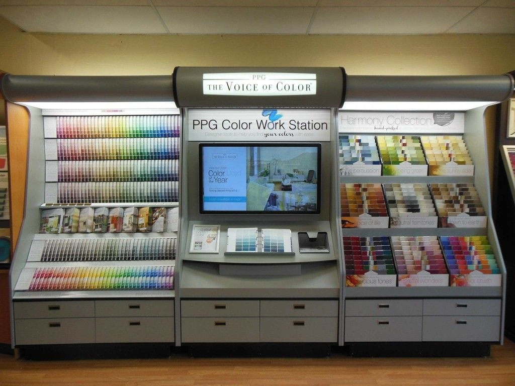 Ppg Paints Work Station See The Color You Choose Interior
