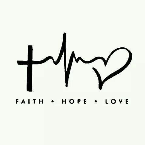"Faith Hope Love Laptop Car Vinyl Window Decal Sticker 4""Hx6""W Christian Cross"