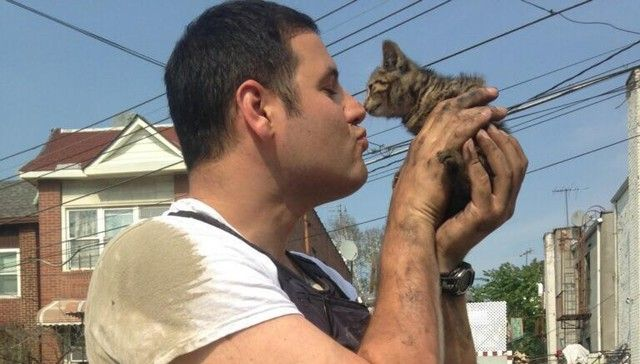 Officer Gets Down And Dirty To Save Stray Kitten, Then Finds Her A Home