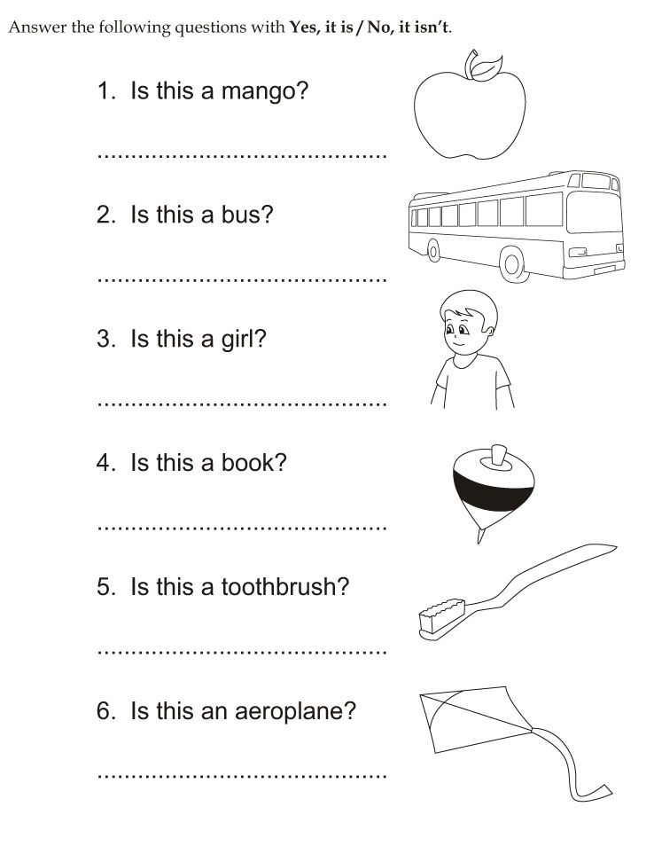 Yes no question cl 2 3 Scuola worksheets inglese – Kindergarten Grammar Worksheets