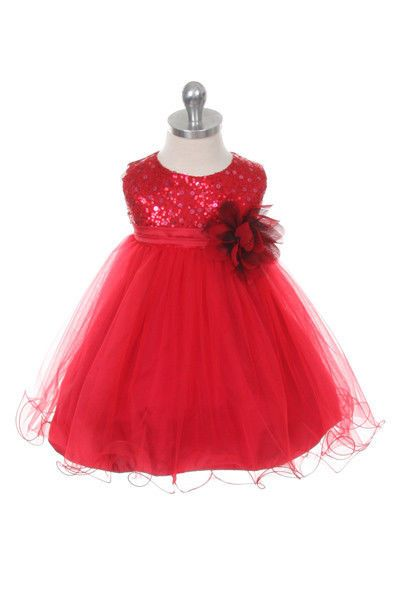New Baby Flower Girls Red Tulle Dress Easter Christmas New Year Pageant 0M-24M #BaptismChristeningChristmasNewYearDressyHolidayPageantWedding